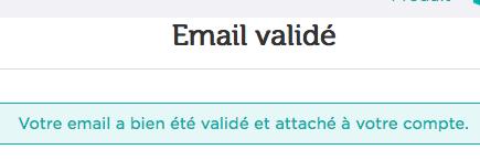 Email validé