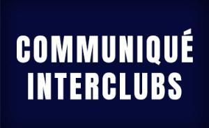 Communiqué Interclubs
